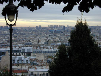 Beautiful View of Paris from Montmartre. Easier to reach this hill with a Vespa scooter. One of the things to see in Paris in a day.