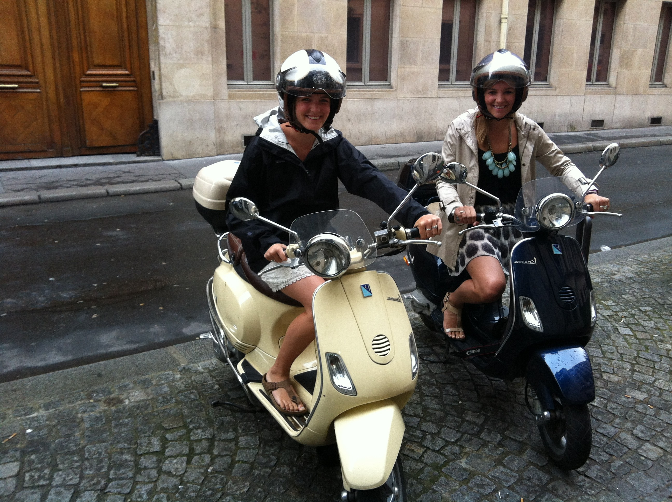 Streets of Paris by Vespa scooter. pictures of Paris France